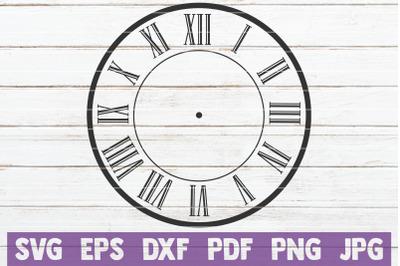 Clock Face SVG Cut File