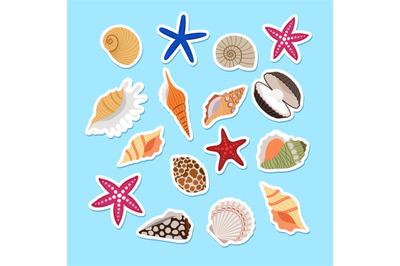 Sea shells cute stickers
