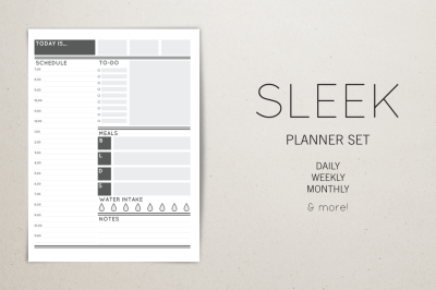 Planner Set - Sleek