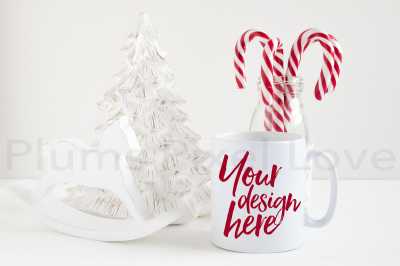 Christmas styled stock mug mock up