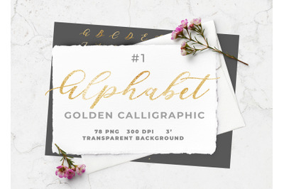 Golden Foil Alphabet I
