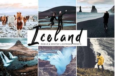 Iceland Mobile & Desktop Lightroom Presets