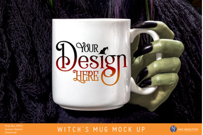 Halloween Crafter's Mock up - Witch's Mug