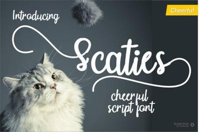 Scaties- Cheerful Font