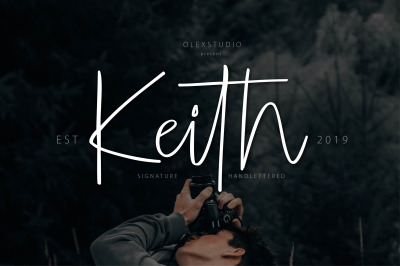 KEITH - hendlettered Signature