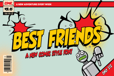 Best Friends Comic Font