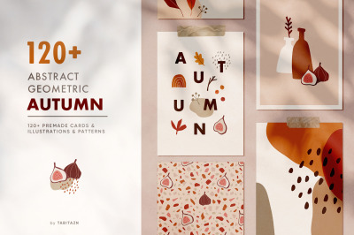 120+ Abstract geometric autumn set