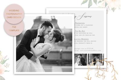PSD Wedding Photo Card Template #5