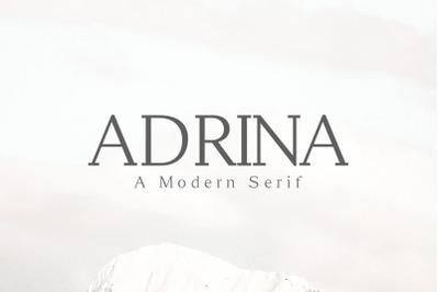 Adrina Modern Serif Font Family