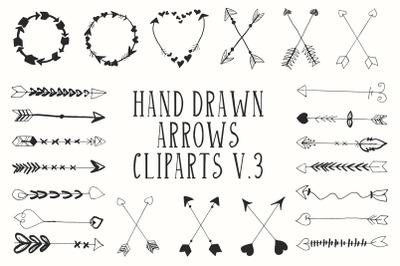 Hand Drawn Arrows Cliparts Ver. 3
