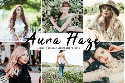 Aura Haze Mobile & Desktop Lightroom Presets