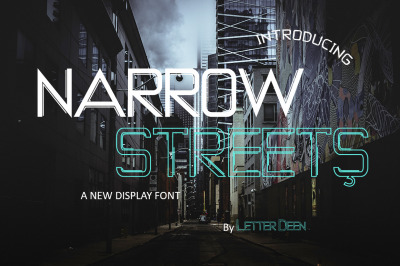 NARROW STREETS a Display FOnt