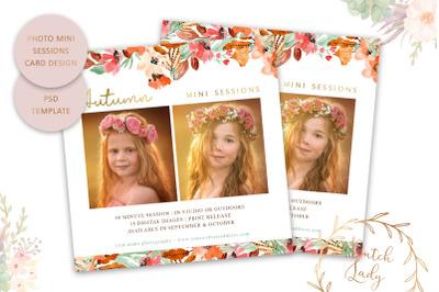 PSD Photo Mini Session Card Template #46