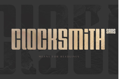 Clocksmith - Bold Display Font