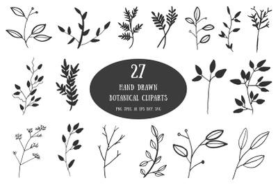20+ Handdrawn Botanical Cliparts