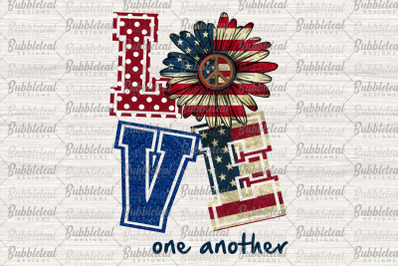 Love One Another Png, Sunflower Png, Hippie Png, America Flag