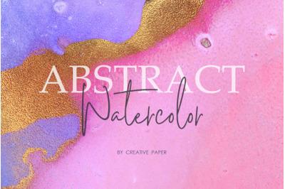 Gold Ink & Watercolor Textures