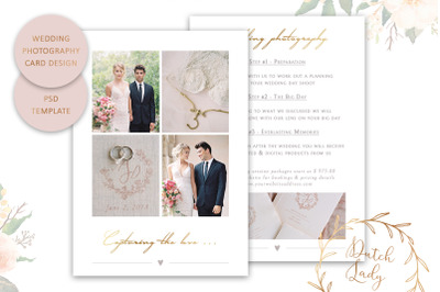 PSD Wedding Photography Card Template #6