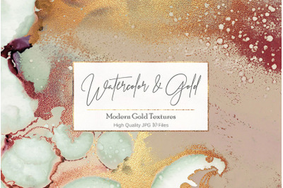 Gold Watercolor Textures