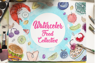 Watercolor Food Collections