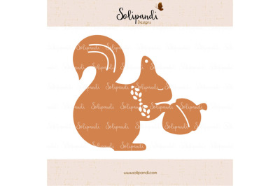 Christmas Squirrel - SVG Cut Files - SVG and DXF Cut Files - for Cricut, Silhouette, Die Cut Machines // scrapbooking // paper crafts #245