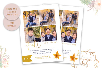 PSD Photography Mini Session Card Template #47