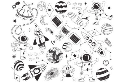 Doodle Outer Space Elements