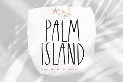 Palm Island - Handwritten Font with Extras!
