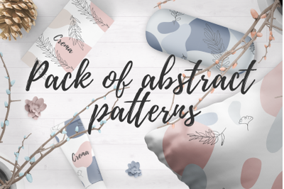 Pack of floral abstract patterns