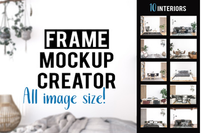 Frame Mockup Bundle [all image size] 10 Interior Scenes