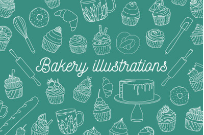 Pack of bakery illustrations
