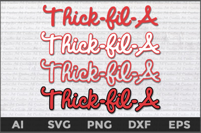 Thick-Fil-A svg, Chick-Fil-A svg, Love Your Curvy Body svg, Thick body
