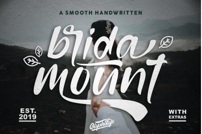 bridamount - a Smooth Handwritten font+extras