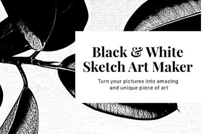Black and White Sketch Art Maker