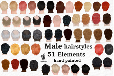 Male hairstyles clipart. Men hair clipat, Bald Man hairstyle