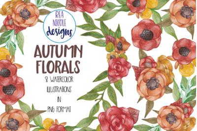 Autumn Florals Clip Art