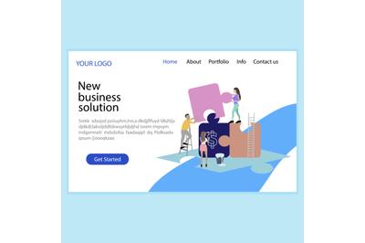 New business solution, solve problem, business service