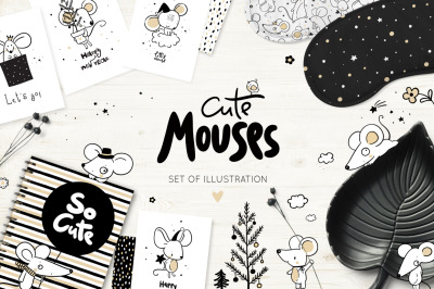 Cute mouses illustration