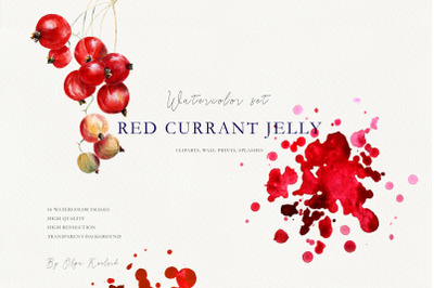Red Currant Watercolor Illustrations