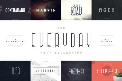Everyday font collection 8in1