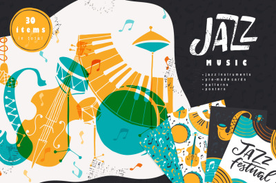 Jazz Music vector collection