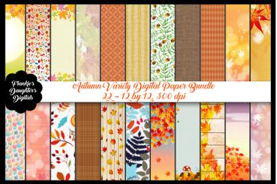 Autumn Digital Paper Bundle