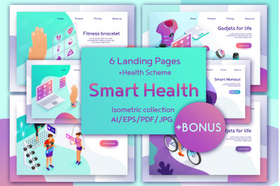 Smart Health Isometric Design