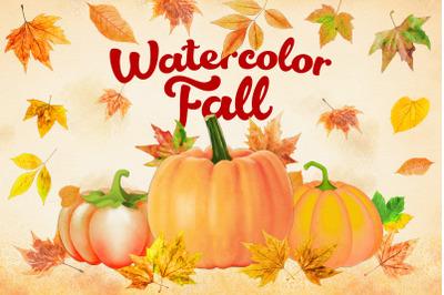 Watercolor Fall Clipart