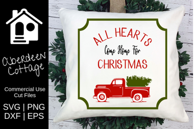 All Hearts Truck Christmas SVG