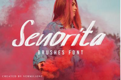Senorita Brushes Font