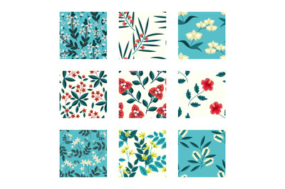 Tropical flowers patterns