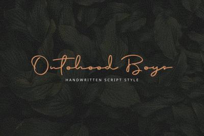 Ontohood Boys-Handwritten style-Script Font