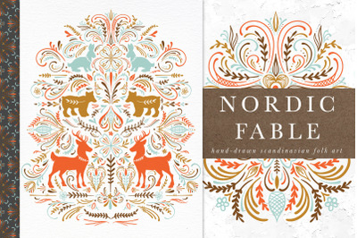 Nordic Fable Scandinavian Folk Art Illustration Kit