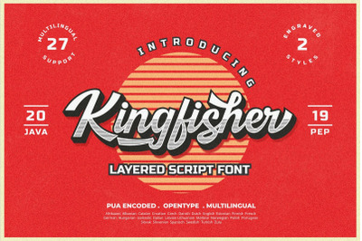 Kingfisher Layered Font